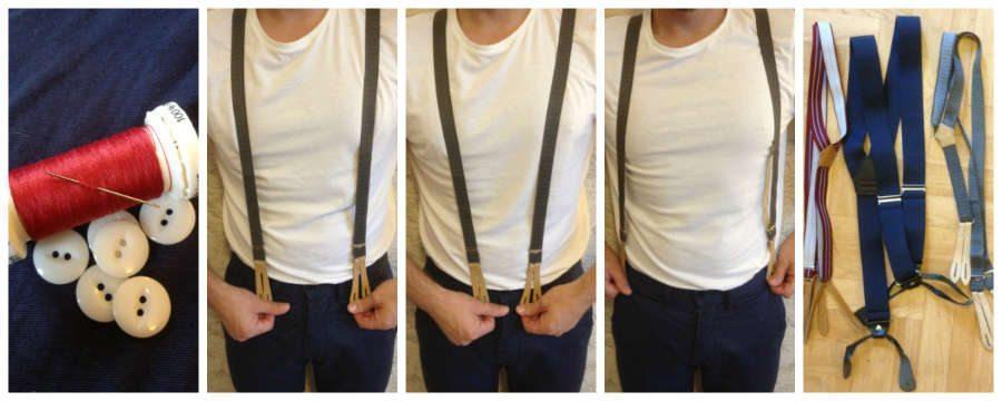 Cómo agregar botones a tus pantalones para usar tirantes